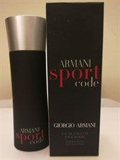 Armani Code Sport (70ml of 75ml) Partial